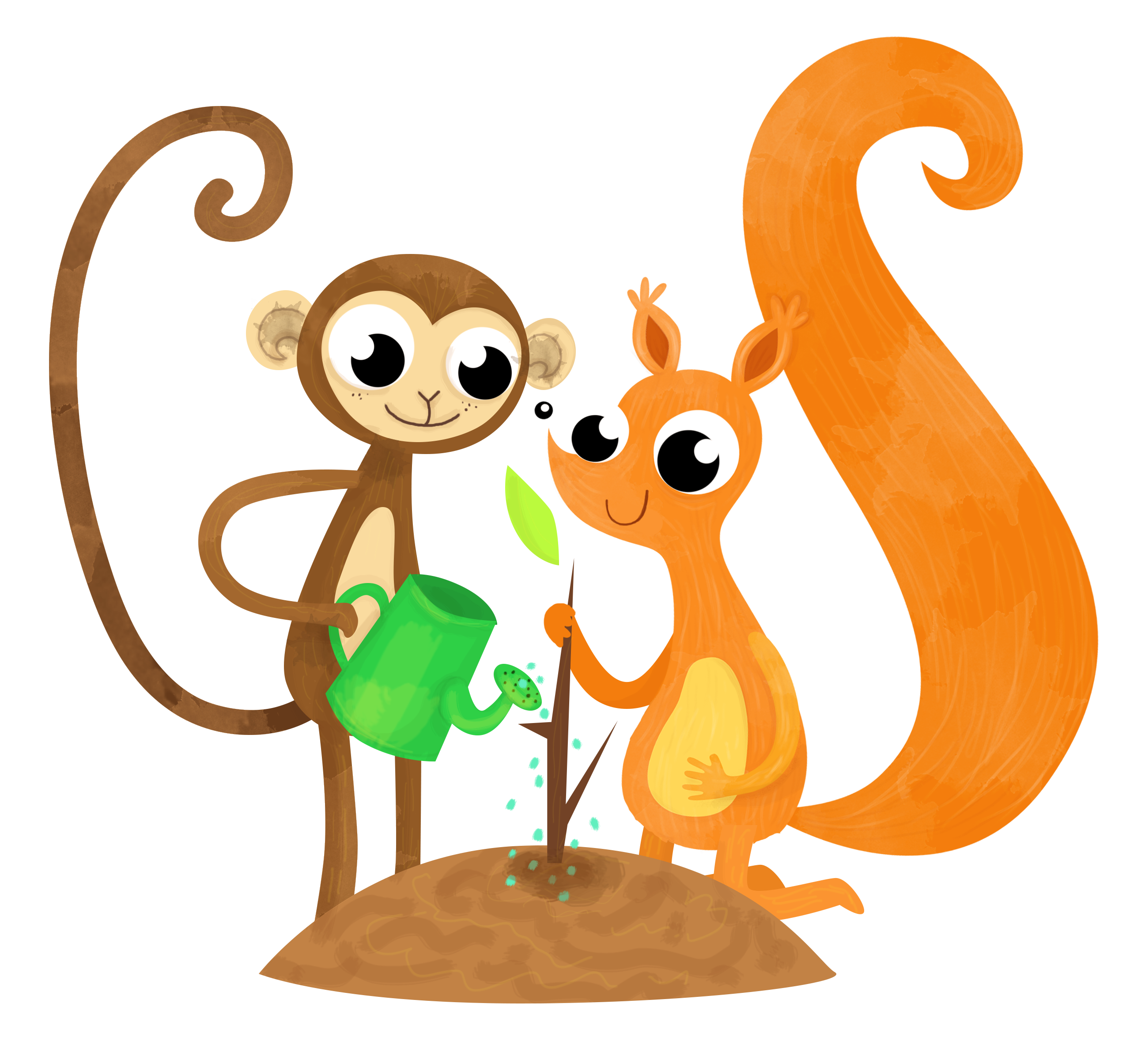planswell squirrel and monkey tree planting finances